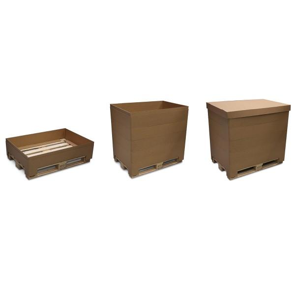 Wellpappe Aufsatzrahmen für Paletten, in mehreren Varianten