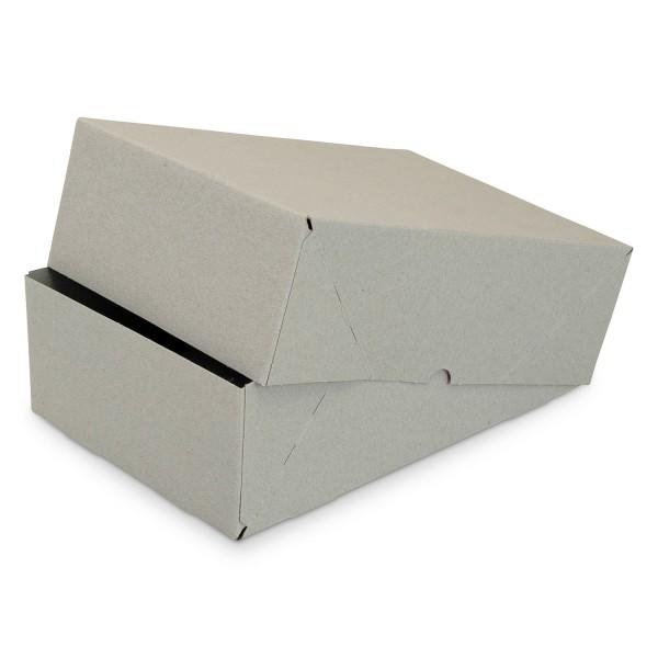 Graupappe Stülpdeckelkarton, 215x215x100 mm, 2-tlg.