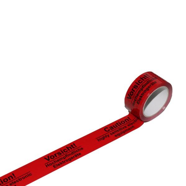 """Warnband """"Hochempfindliche Elektrogeräte"""", 50 mm breit"""