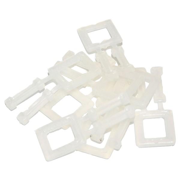 Kunststoffschnallen für max. 16 mm breite Umreifungsbänder
